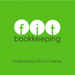 FIT BOOKKEEPING green background